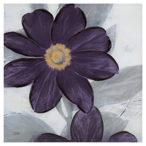 Midnight Bloom Plum Hand Embellished Canvas - image 1 of 4