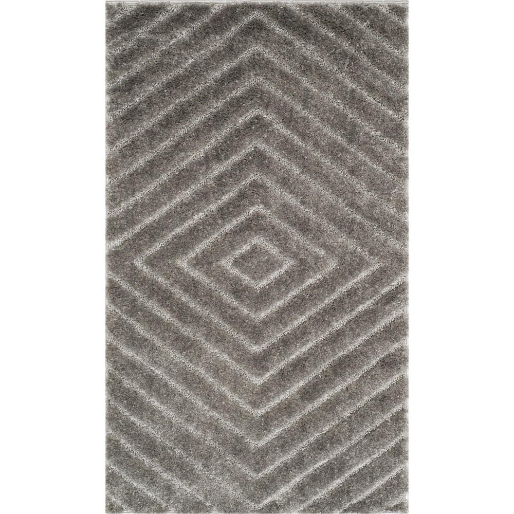 3'X5' Geometric Loomed Accent Rug Light Gray - Safavieh