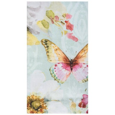 C&F Home Butterfly Blossom Embroidered Cotton Kitchen Towel