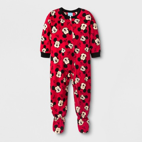 Toddler Boys' Mickey Mouse Blanket Sleeper - Red - image 1 of 2