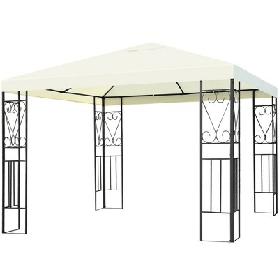 Costway 10'x10' Patio Gazebo Canopy Tent Steel Frame Shelter Patio Party Awning
