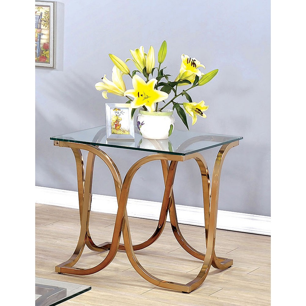ioHomes End Table Gold Medal