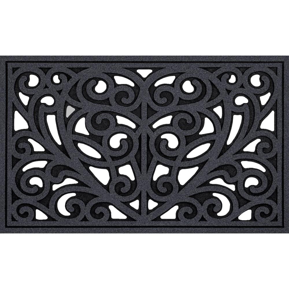 Image of 2'x3' All Season Heart Iron Doormat Gray - Apache Mills