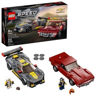 LEGO Speed Champions Chevrolet Corvette C8.R Race Car and 1968 Chevrolet Corvette 76903 Building Toy