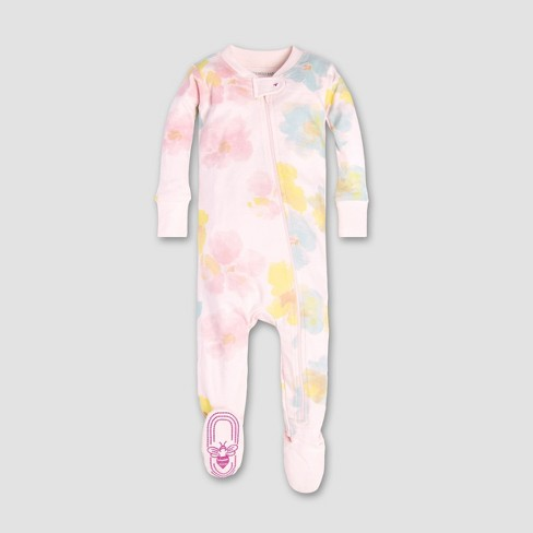 Burt's Bees Baby® Baby Girls' Morning Dew Floral Organic Cotton Sleeper - Dawn - image 1 of 2
