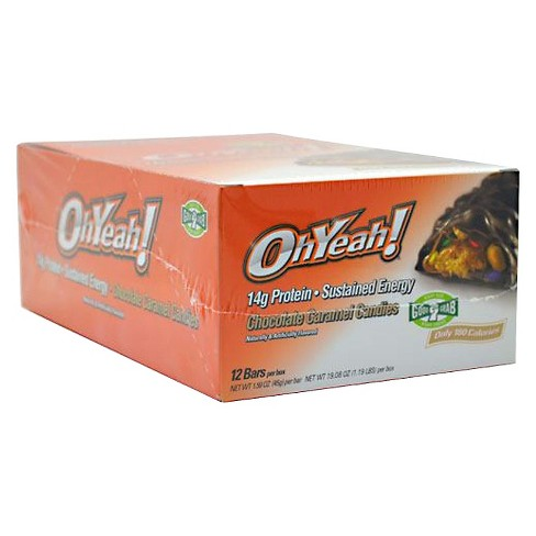 Oh Yeah Snack Protein Bar - Chocolate Caramel Candy - 12ct - image 1 of 1
