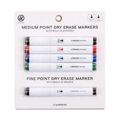 Ubrands® Medium Tip Dry Erase Markers 5ct
