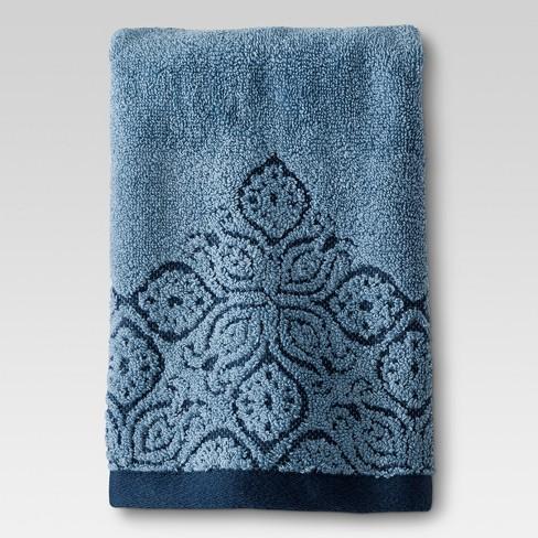 hand towel blue border threshold target