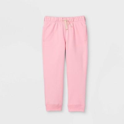 Toddler Girls' Adaptive Diaper Friendly Jogger Pants - Cat & Jack™ Pink