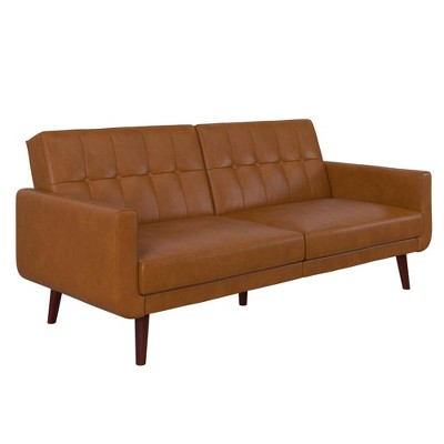 Fiore Modern Futon Camel Faux Leather - Room & Joy