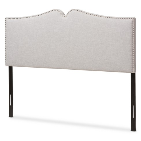 Gracie Modern And Contemporary Fabric Upholstered Headboard With Nail Heads Trim - Baxton Studio - image 1 of 5