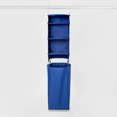 Hanging Closet Organizer With Detachable Hamper Blue - Room Essentials™