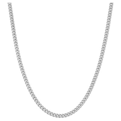 """Tiara Sterling Silver 16"""" - 22"""" Adjustable Curb Chain"""