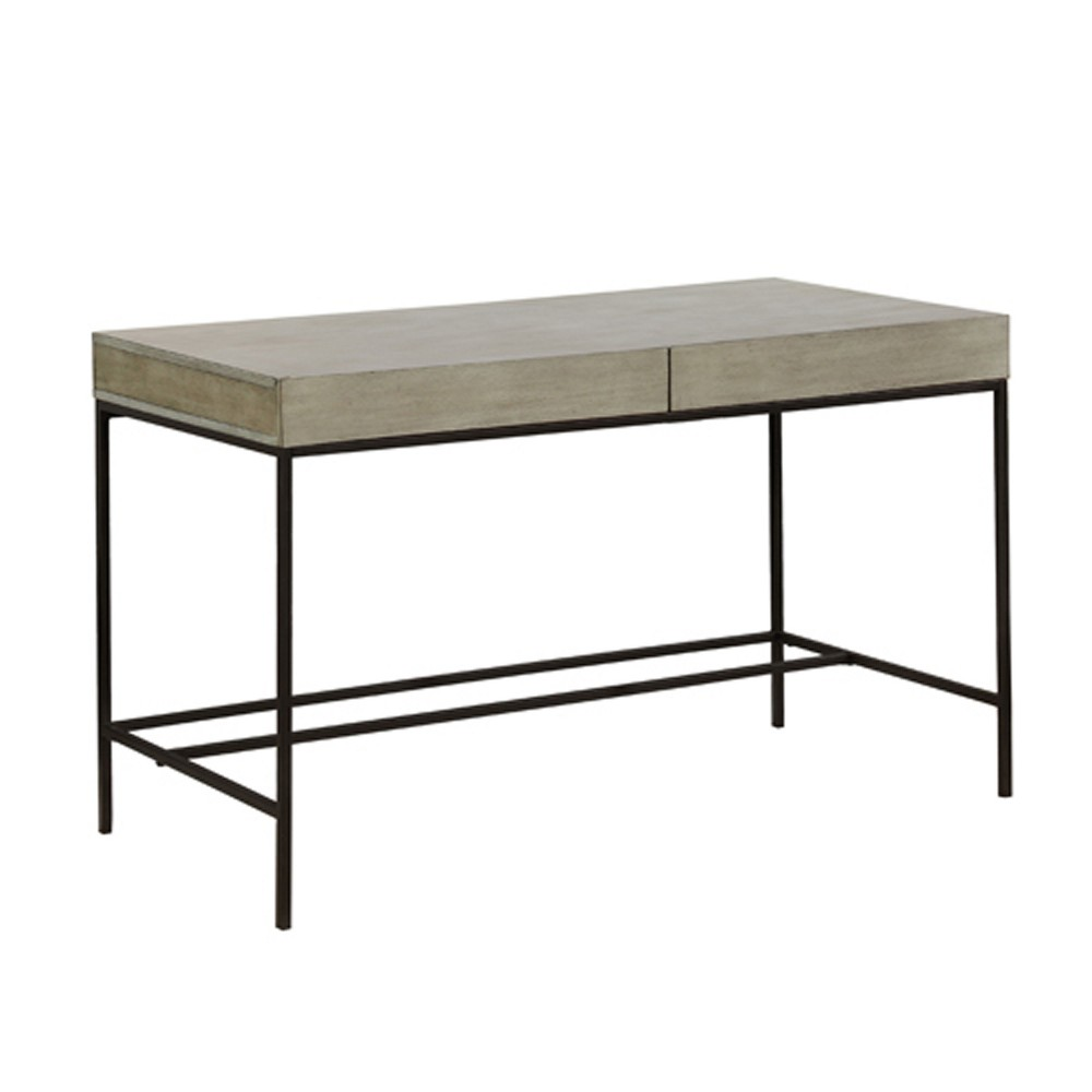 Bonilla Writing Desk Light Gray - Mibasics, Casual Gray