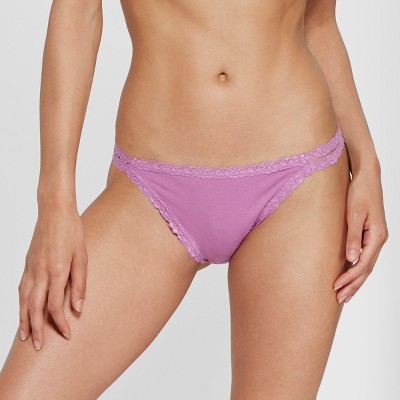 a566c10490355 Women s Cotton String Bikini – Xhilaration™ Vivid Violet S – Target ...