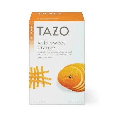 Tazo Wild Sweet Orange Caffeine-Free Herbal Tea - 20ct