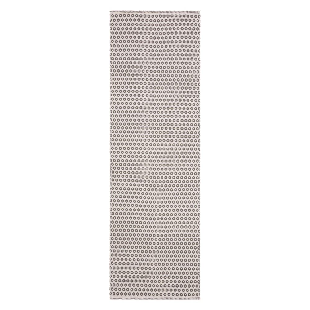 23X7 Geometric Woven Runner Gray/Ivory - Safavieh Discounts