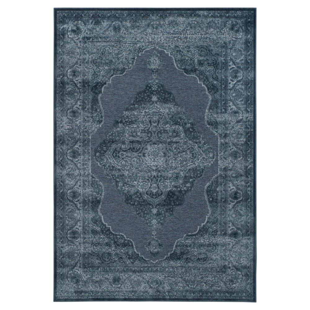 Blue Medallion Loomed Area Rug 5'3
