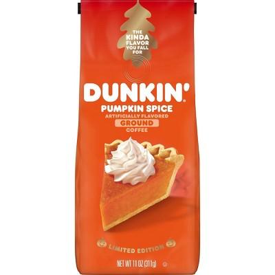 Dunkin Donuts Pumpkin Spice Medium Roast Ground Coffee - 11oz