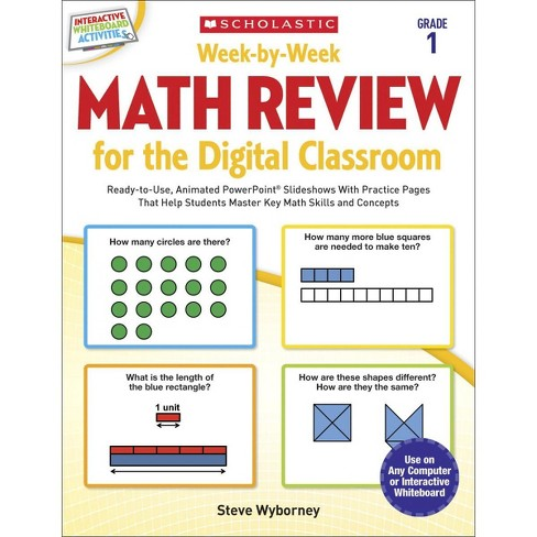 Scholastic Week by Week Math Review for Digital Classrooms, Grade 1 - image 1 of 1