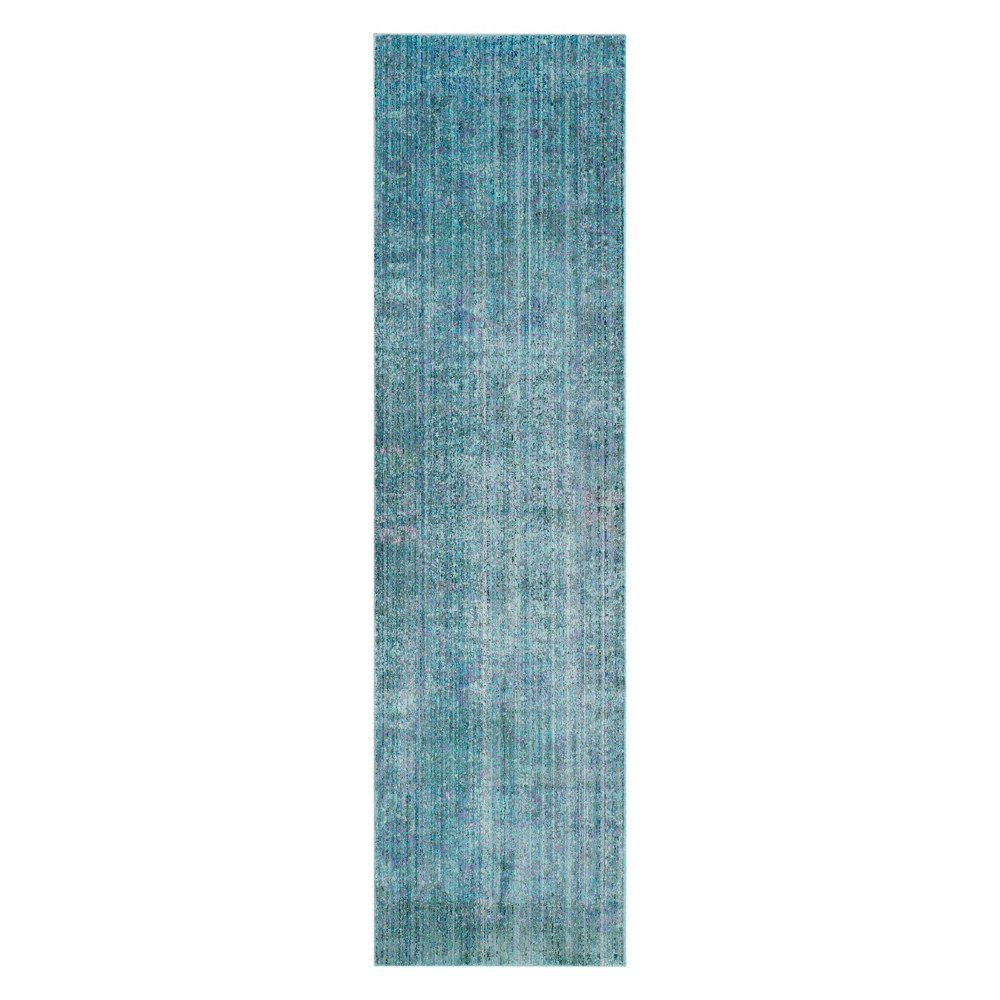 23x10 Brylee Solid Loomed Runner Turquoise - Safavieh Cheap
