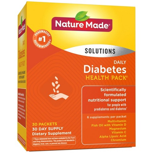 Nature Made Daily Diabetes Health Packets - 30ct - image 1 of 4