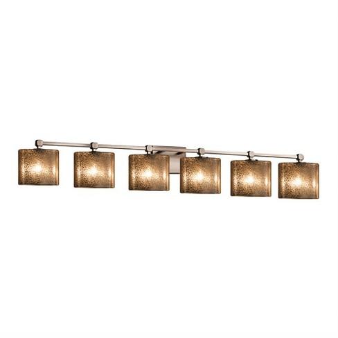 "Justice Design Group FSN-8426-30-MROR Tetra 6 Light 51-1/2"" Wide Bathroom Vanity Light - image 1 of 1"