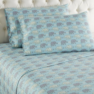 Shavel Micro Flannel Shavel Durable & High Quality Luxurious Printed Sheet Set Including Flat Sheet, Fitted Sheet & Pillowcase
