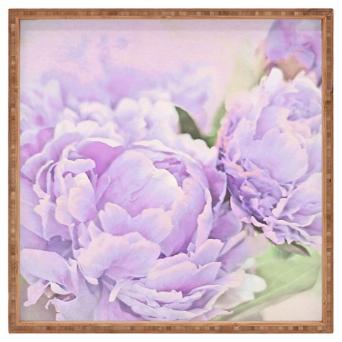 Lisa Argyropoulos Lavender Peonies Square Tray - Purple - Deny Designs - image 1 of 4