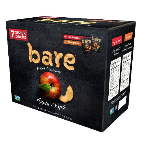 Bare Apple Chips Fuji Red and Cinnamon Snack Pack - 7ct/3.7oz - image 1 of 5