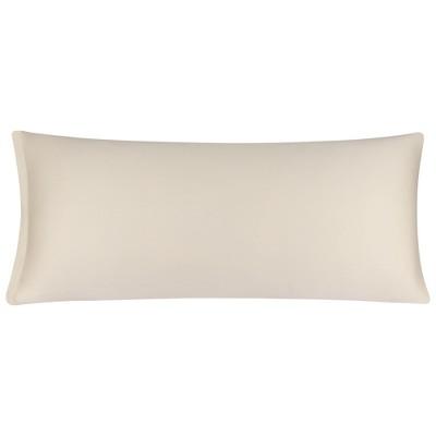1 Pc Body Egyptian Cotton with Zipper Pillowcase Beige - PiccoCasa