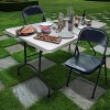 Folding Chair Vinyl Padded Black - Plastic Dev Group - image 4 of 4