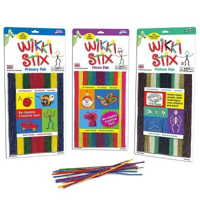 Wikki Stix - Triple Pak - Nature, Primary, Neon - 144 Pieces