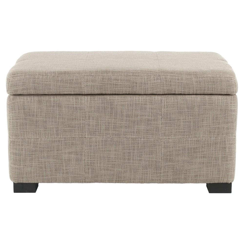 Madison Storage Bench Small Stone (Grey) - Safavieh