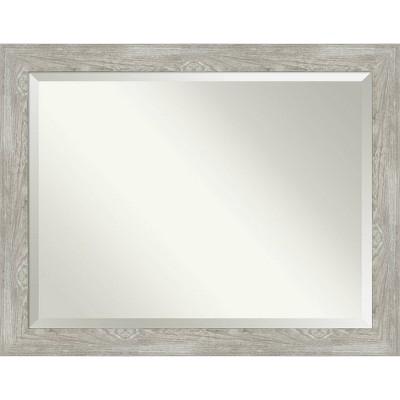 "46"" x 36"" Dove Graywash Framed Bathroom Vanity Wall Mirror - Amanti Art"