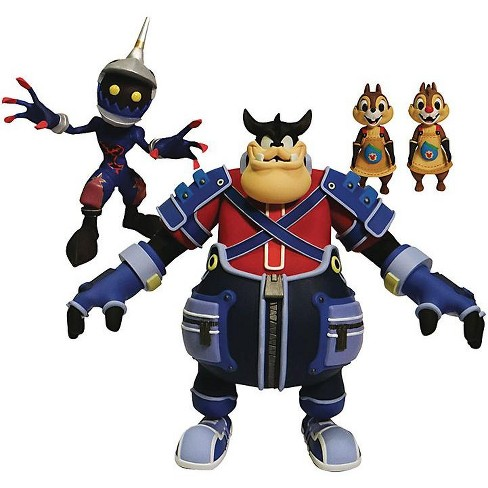 Disney Kingdom Hearts Series 2 Pete, Chip 'n Dale and Soldier Action Figure 3-Pack - image 1 of 1