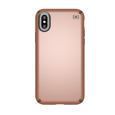 Speck iPhone X Case Presidio - Metallic Bronze Copper/Slate Gray - image 1 of 4