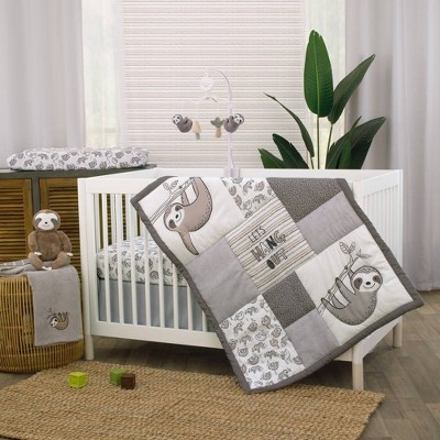 Little Love by NoJo Sloth Let's Hang Out Crib Set - 3pc