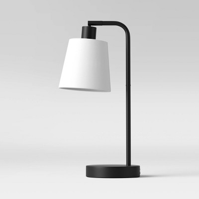 Shaded Arc Table Lamp Black (Includes LED Light Bulb)- Project 62™
