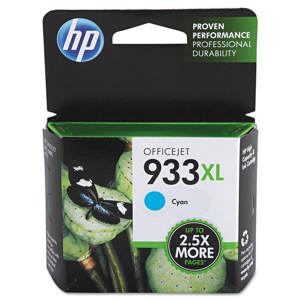 HP 933XL High Yield Original Single Ink Cartridge - Cyan (Blue) (HEWCN054AN)