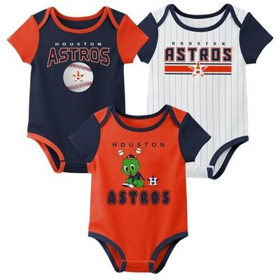 MLB Houston Astros Baby Boys' 3pk Bodysuit Set