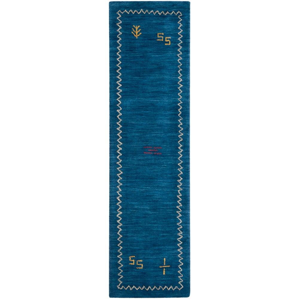 22X8 Loomed Geometric Design Runner Rug Blue - Safavieh Best