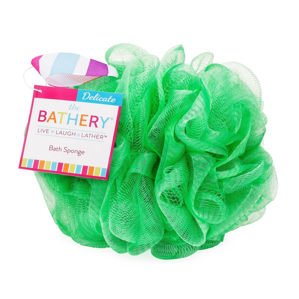 Image of The Bathery Delicate Bath Sponge - Green