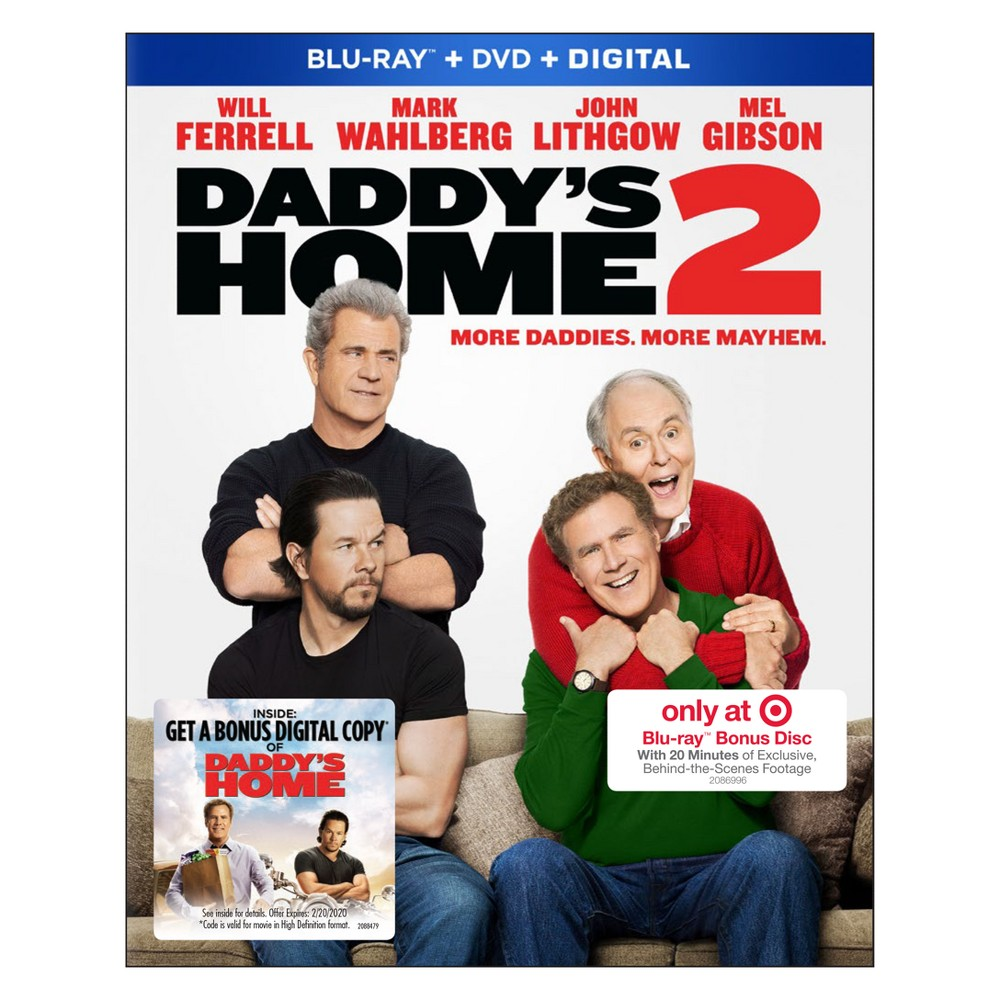Daddy's Home 2 Target Exclusive (Blu-ray + Dvd + Digital)