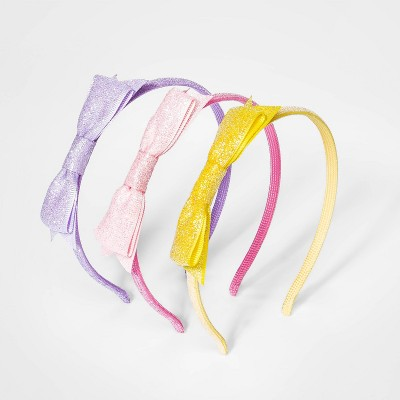 Girls' 3pk Woven Glitter Bow Headband - Cat & Jack™