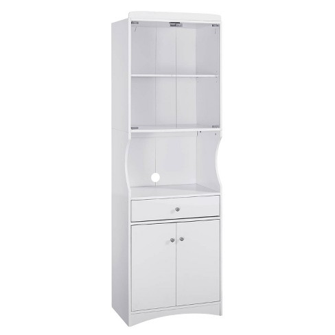 Traditional Microwave Cabinet White