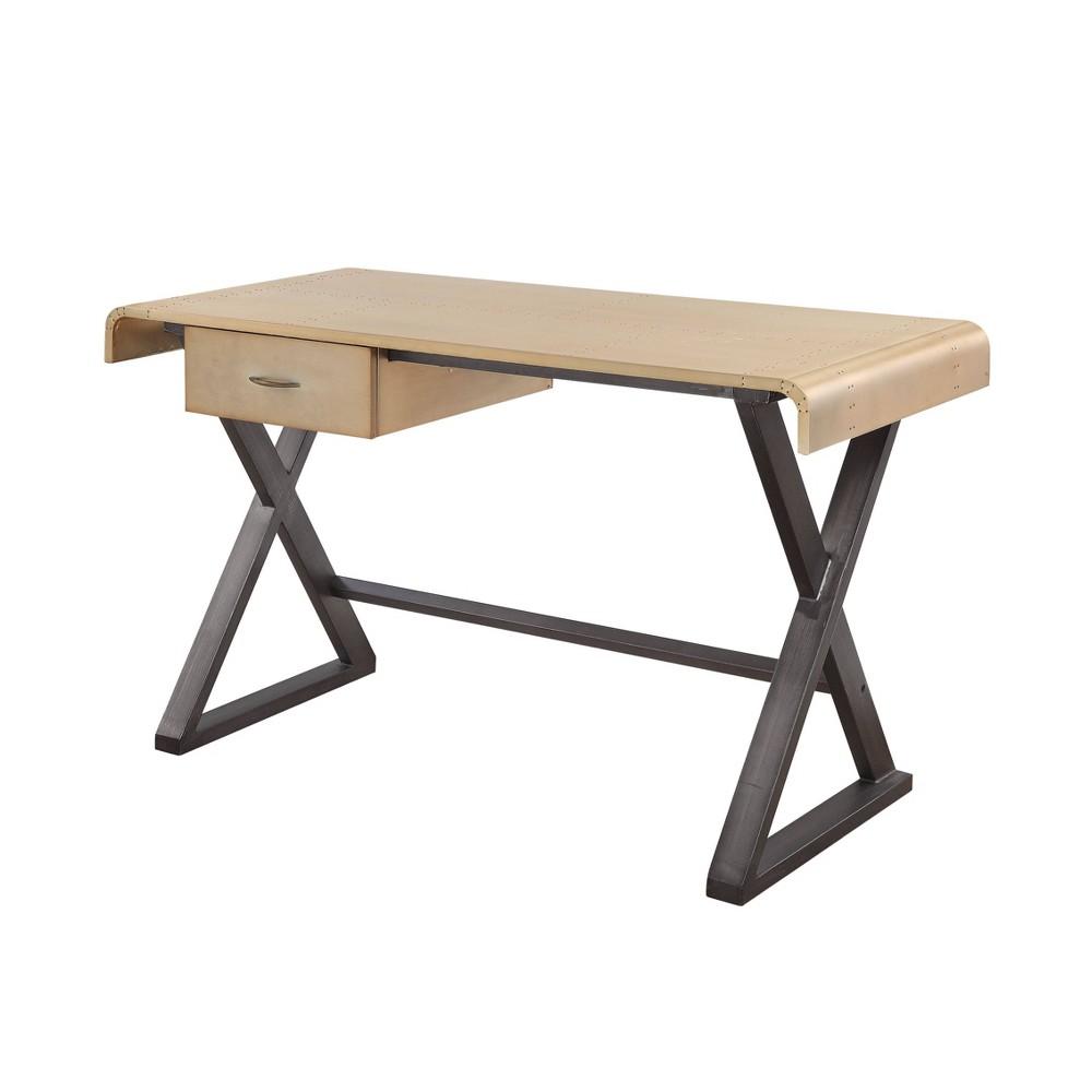 Danton Desk Gold Aluminum - Acme Furniture Danton Desk Gold Aluminum - Acme Furniture
