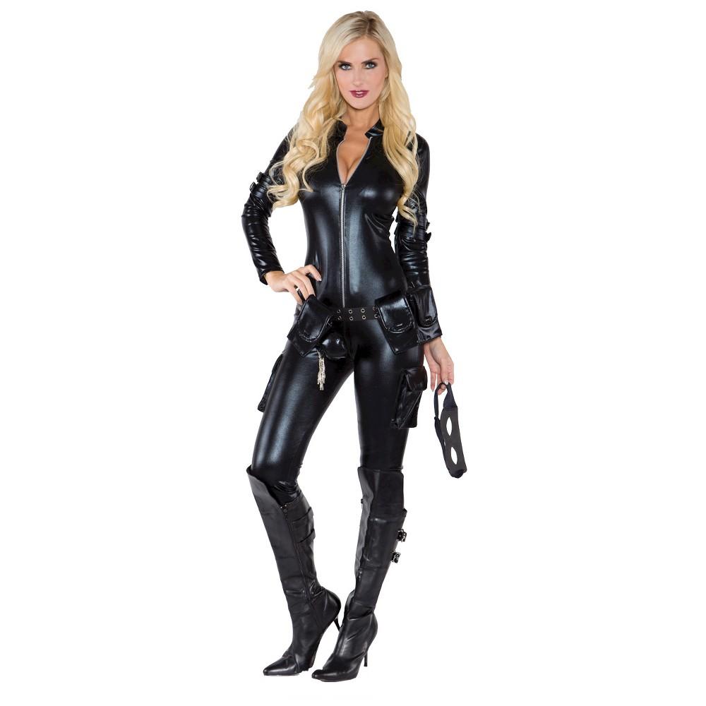 Women's Thief Costume Large, Black