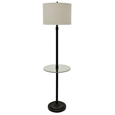 "61"" 3-way Madison Floor Lamp Glass Table Bronze - StyleCraft"