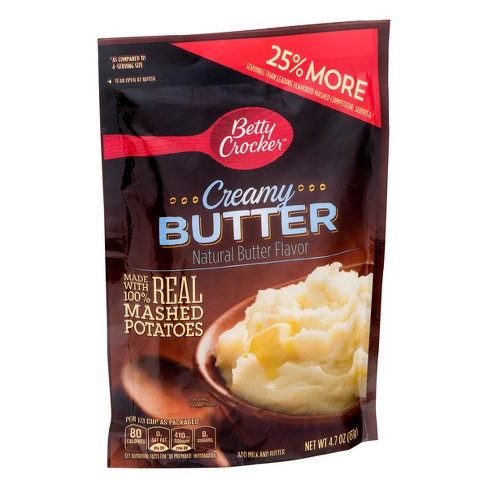Betty Crocker Mashed Potato Homestyle Creamy Butter Pouch 4.7 oz - image 1 of 3